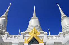 The White Pagodas at Wat Asokaram Royalty Free Stock Image