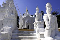 white pagodowy mingun Myanmar fotografia stock