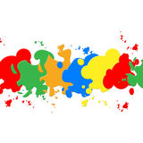White Paint Backround Shows Colorful Artistic And Painting Royalty Free Stock Image