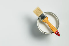 White paint and brush Stock Images