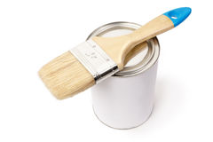 White paint can Stock Photography