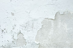 White Paint Concrete Wall Peel off Background Royalty Free Stock Photography