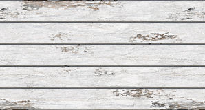 White paint with a shabby old boards are arranged horizontally. White old boards with shabby paint horizontally disposed second kind Stock Photography
