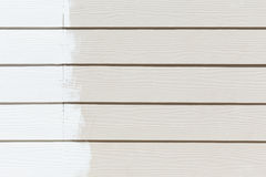 White paint on wood wall plank Royalty Free Stock Photography