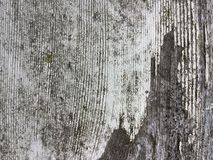 White paint worn away old wood texture. Old worn away paint on wood stock photography