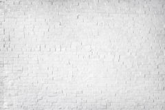 White Painted Beautiful Brick Wall Stock Photography