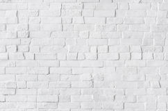 White Painted Beautiful Brick Wall Stock Photos