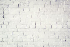 White Painted Beautiful Brick Wall Stock Photo