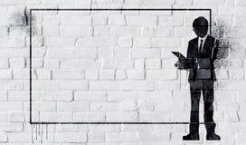 White Painted Beautiful Brick Wall Stock Photography