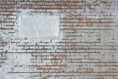White Painted Brick Wall Royalty Free Stock Photo