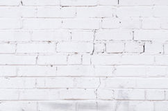 White painted brick wall background Royalty Free Stock Image