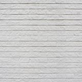 White painted brick wall fragment Stock Photography