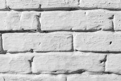 White-painted brick wall Royalty Free Stock Photos
