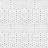White painted brick wall seamless texture Stock Photos