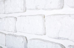 White painted brick wall texture Stock Photos