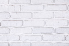 White painted brick wall texture background Stock Photography