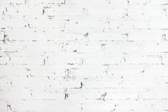 White painted brick wall texture background. Architecture, interior design concept. Scandinavian style Royalty Free Stock Photo