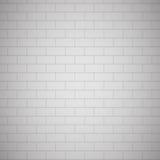 White painted brick wall Stock Photo