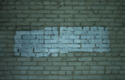 White painted brick wall stock photography