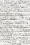 White painted bricks at an old house wall Royalty Free Stock Image