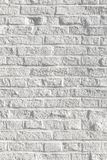 White painted bricks at an old house wall Royalty Free Stock Photo