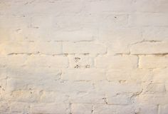White painted brickwork. Good background for photo wallpapers stock photos