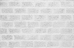 White painted concrete block wall Royalty Free Stock Photos