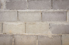 White painted concrete block wall Royalty Free Stock Image