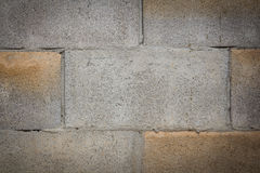 White painted concrete block wall Royalty Free Stock Photo