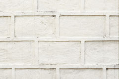 White painted concrete block wall background Stock Images
