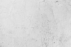 White painted concrete wall with plaster pattern Royalty Free Stock Images