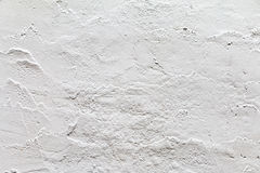 White painted concrete wall Stock Images