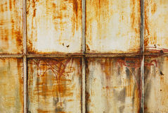 White painted metal with rust texture Stock Image