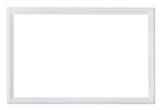 White painted narrow wooden picture frame Royalty Free Stock Images