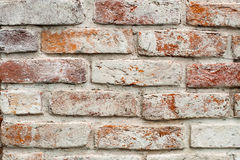 White painted red brick wall Stock Photo