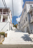 White painted steps Charlotte Amalie Stock Photography