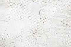White Painted Stone Wall Royalty Free Stock Photography