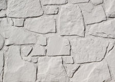 White Painted Stone Wall stock photo