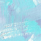 White painted textured background with brush strokes. White painted textured abstract background with brush strokes in blue shadows. Fragment of acrylic painting Royalty Free Stock Photos