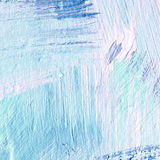 White painted textured background with brush strokes. White painted textured abstract background with brush strokes in blue shadows. Fragment of acrylic painting Royalty Free Stock Photography