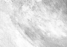 White painted textured background with brush strokes. White painted textured abstract background with brush strokes in gray and black shades. Fragment of acrylic Royalty Free Stock Image