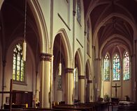White Painted Wall Church Royalty Free Stock Image