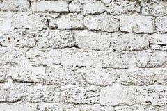 White painted wall of limestone Stock Photo