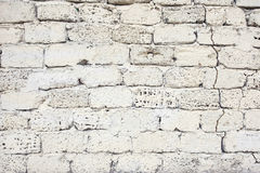 White painted wall of limestone Stock Photos