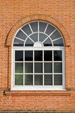White painted wood arched window Stock Photography