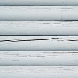 White painted wooden beam wall Stock Images