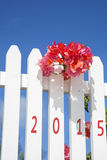 White painted wooden fence Royalty Free Stock Images