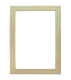 White painting canvas frame isolated. On white background royalty free stock photography