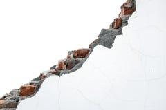 White painting crack bricks wall Stock Photography