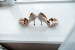 White pair of shoes Royalty Free Stock Photos